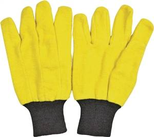 ! Chore Gloves, 60% Cotton And 40% Polyester, Yellow 10PK